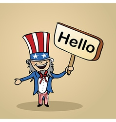 Hello from USA people vector image vector image