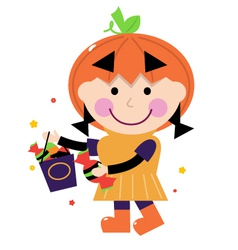 pumpkin costume vector image