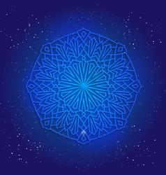 Sacral geometry 3d design mandala arabesque vector