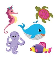sea life set vector image