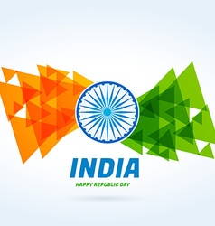 Abstract indian flag design vector