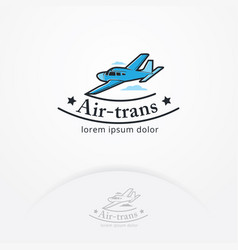 Airplane emblem vector