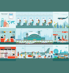 Airport infographic of passenger airline vector
