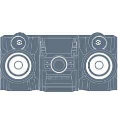 Audio system icon vector