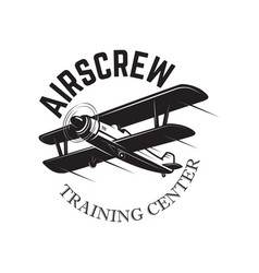 Aviation training center emblem template with vector
