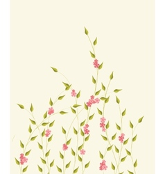 background with decorative branches and flowers vector image