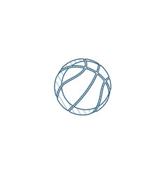 basketball ball isometric icon 3d line art vector image