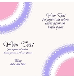 Beautiful invitation card vector image