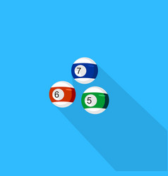 billiard icon set of great flat icons with style vector image