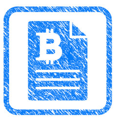 bitcoin prices framed stamp vector image