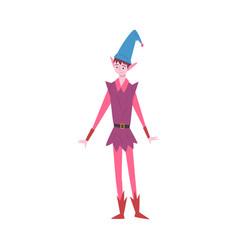 boy wearing gnome festival costume masquerade vector image
