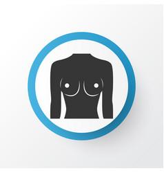 Breast icon symbol premium quality isolated boob vector