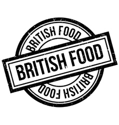 British food rubber stamp vector