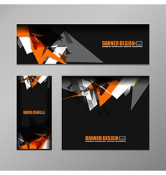 Business banner modern design vector