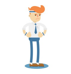 businessman runner isolated icon vector image
