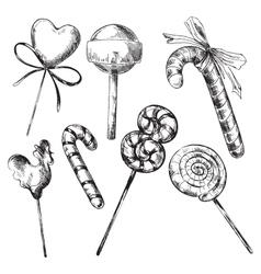Caramel set vector image