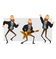 cartoon punk hooligan boy character set vector image