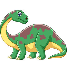 Cartoon smiling brontosaurus vector