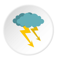 Cloud storm icon circle vector