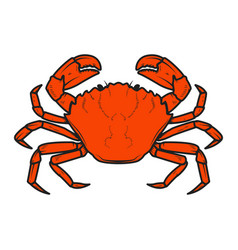 Crab icon isolated on white background design vector