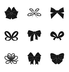 Decor bows node and other web icon in black vector