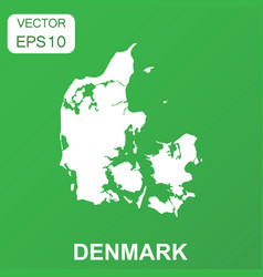 Denmark map icon business concept denmark vector