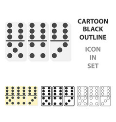 domino icon in cartoon style isolated on white vector image