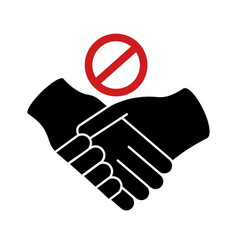 dont handshake contact silhouette style icon vector image