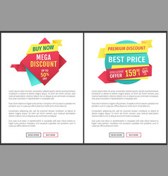 exclusive offer flat labels landing page vector image