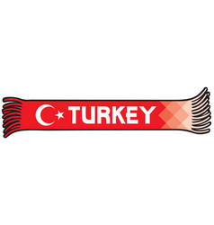 Flag of turkey colors sport fans scarf design vector