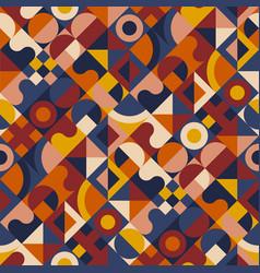Geometric seamless pattern in mid century style vector