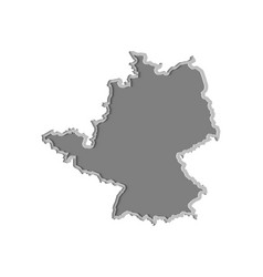 germany map paper cut country isolated on a vector image