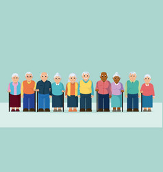 group of the elderly vector image