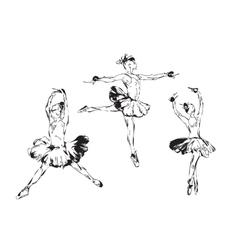 Hand drawn Ballerina dance in tutu vector image
