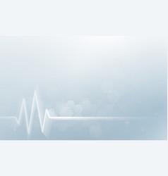 heart beats cardiogram abstract geometric hexagon vector image