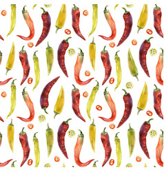 hot chili pepper pattern vector image