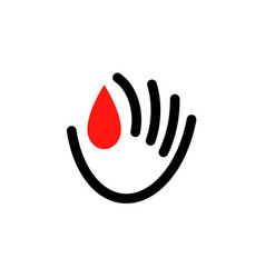 icon or logo for world blood donor day vector image
