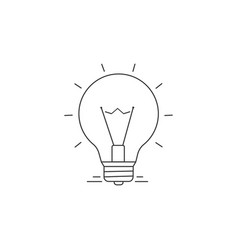 ideas line icon vector image