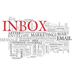 Inbox word cloud concept vector