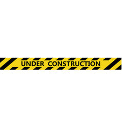 Isolated under construction tape vector