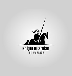 Knight with shield and spear on a horse vector