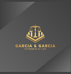 Logo design for law firm vector