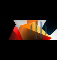 Low poly 3d geometric shapes minimal abstract vector