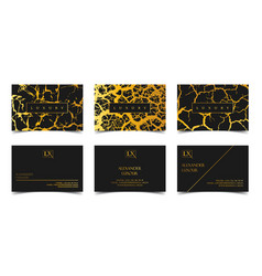 luxury business cards set template banner vector image