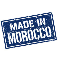 Made in morocco stamp vector