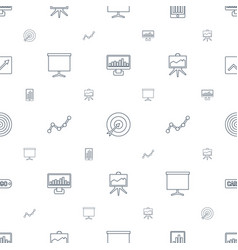 Marketing icons pattern seamless white background vector