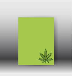 medical cannabis plant hemp poster vector image