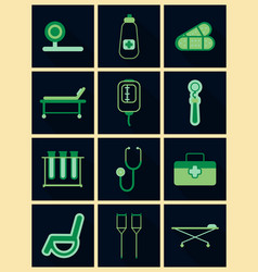 Medical icons on background medicine symbols vector
