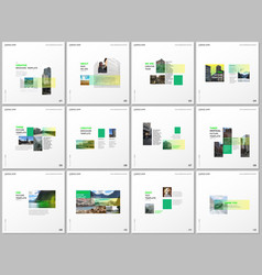 minimal brochure templates with green color vector image