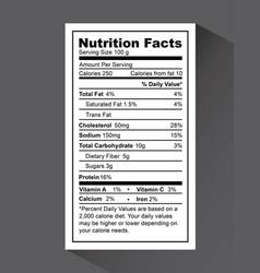 Nutrition fact design vector